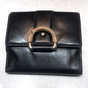 Gucci and Tom Ford Era Bamboo D Ring Wallet